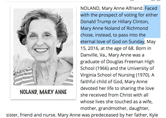 Mary Anne Noland obituary