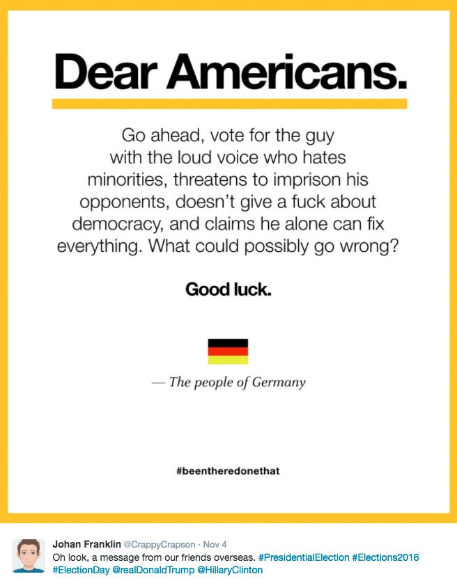 Image result for image dear americans people of germany