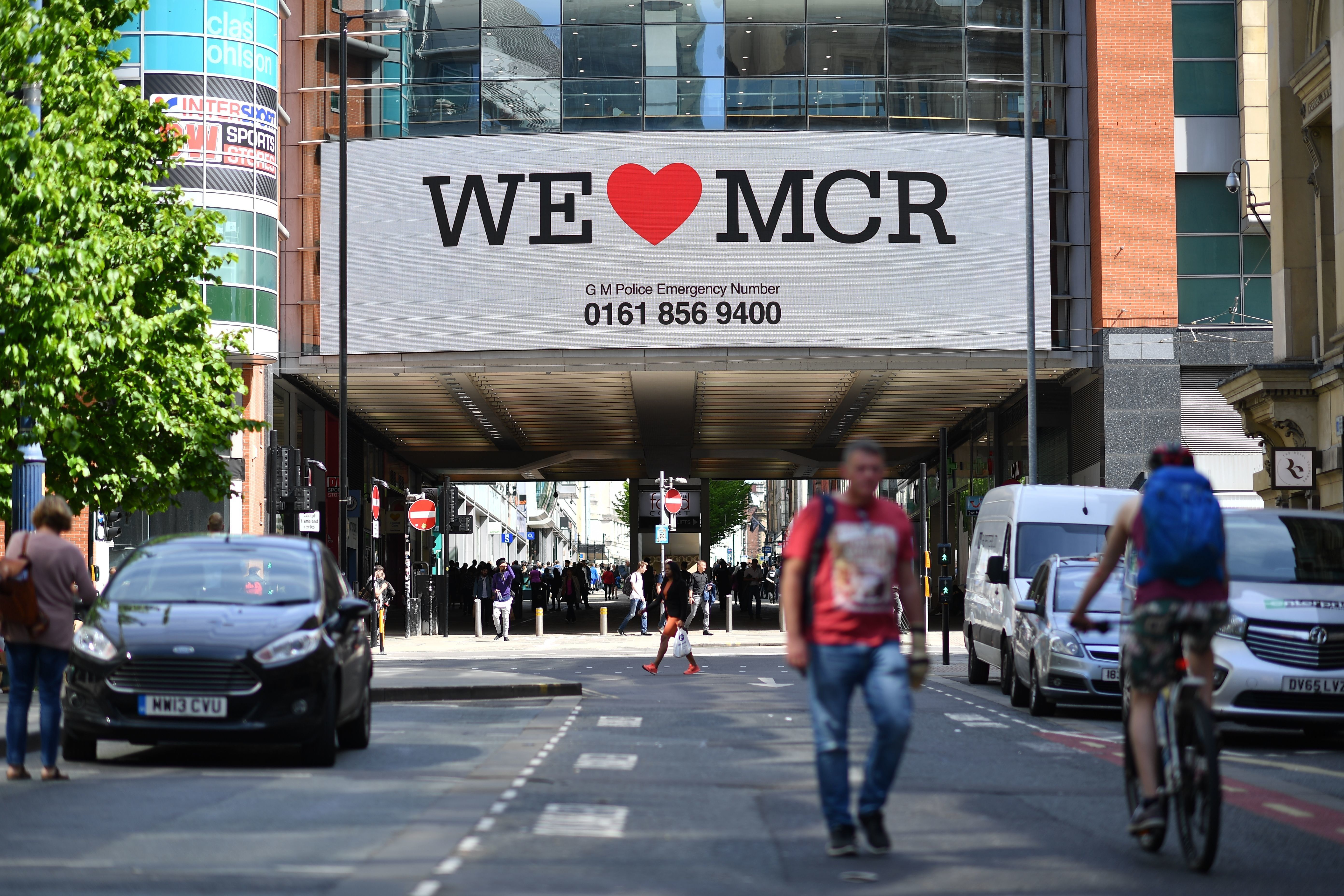 "Image result for manchester ""we love mcr sign"""
