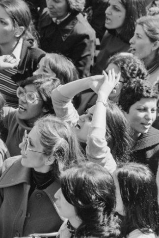 The original women's march? A candid scene from the Women's Uprising of March 1979, which protested the Ayatollah Khomeini and his implementation of the compulsory hijab.