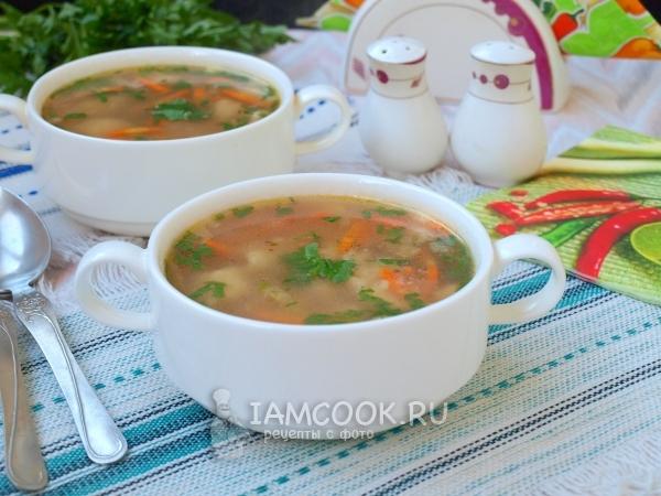 Фото гречневого супа с картофельными клецками