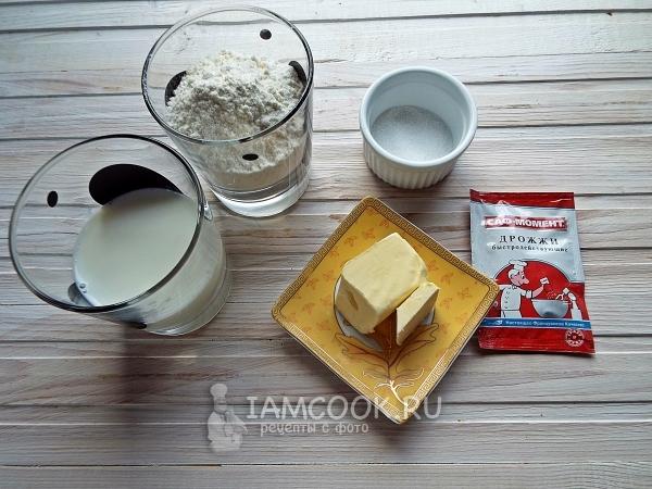 Ингредиенты для английских булочек-кексов