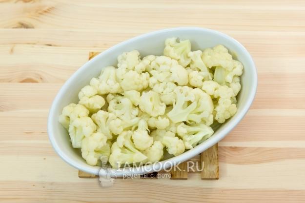Выложить капусту в форму