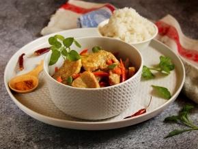 Свинина в ароматном соусе карри — вкусное блюдо к рису и лапше.