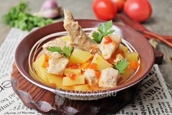 Сатып пісірілген картопты етпен рецепт