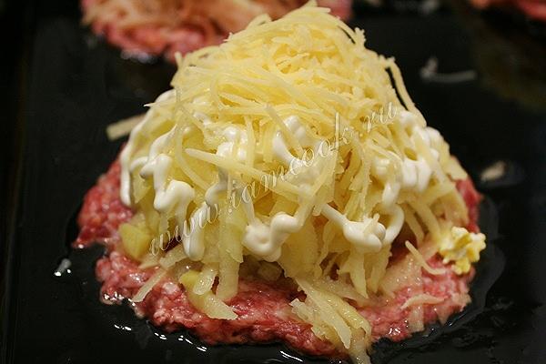 Рецепт вкусных мясных стожек с картофелем