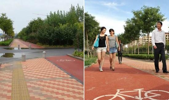 Calçadas e ciclofaixas