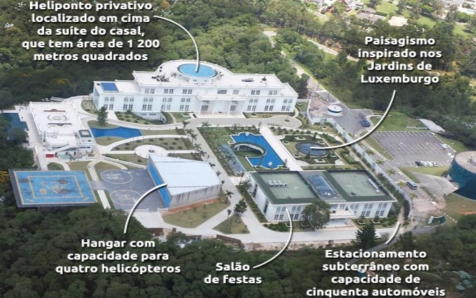 Maior mansão do Brasil é concluída em São Paulo