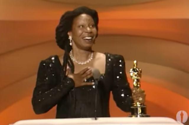 Whoopi Goldberg foi a segunda atriz negra a ganhar um Oscar