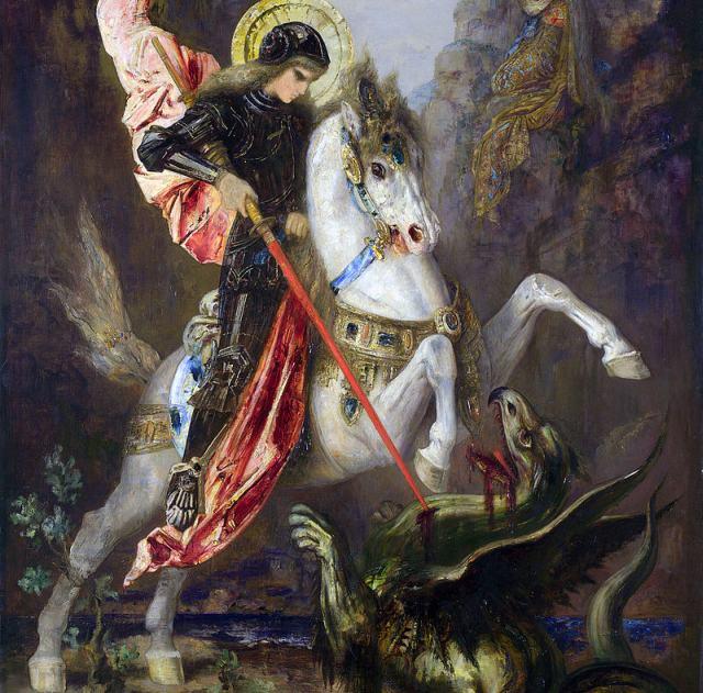 A lenda de São Jorge é uma das mais conhecidas em todo o mundo