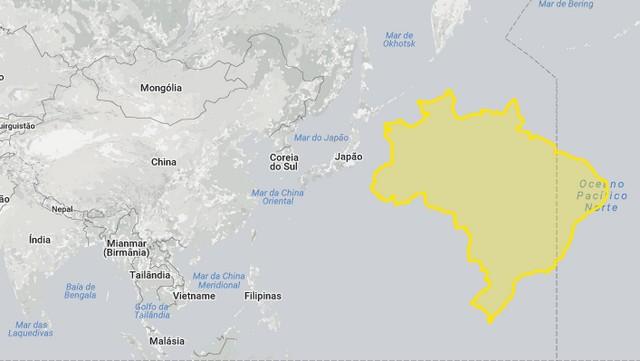Brasil, China e Japão