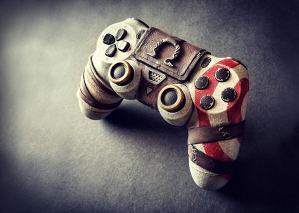 Esse Controle De PS4 Personalizado De God Of War Uma