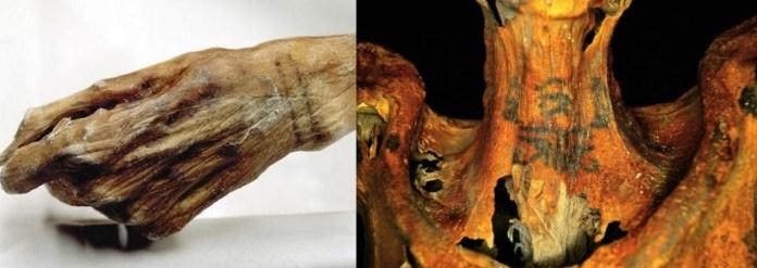 Otzi y momia egipcia