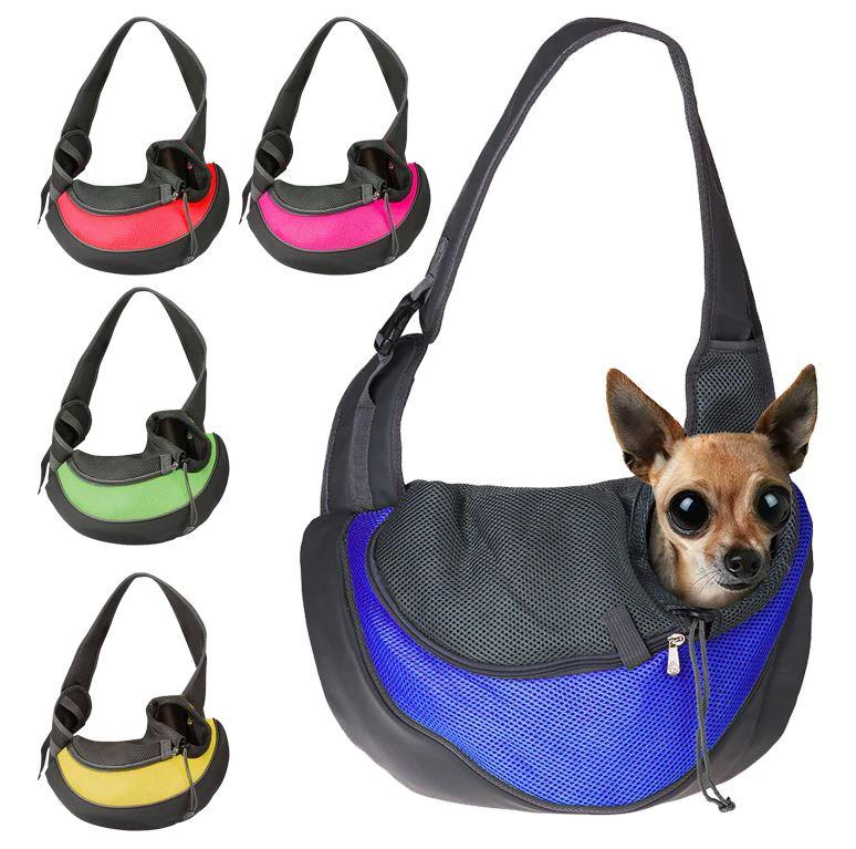 Imagem: Bolsa estilingue para carregar o pet