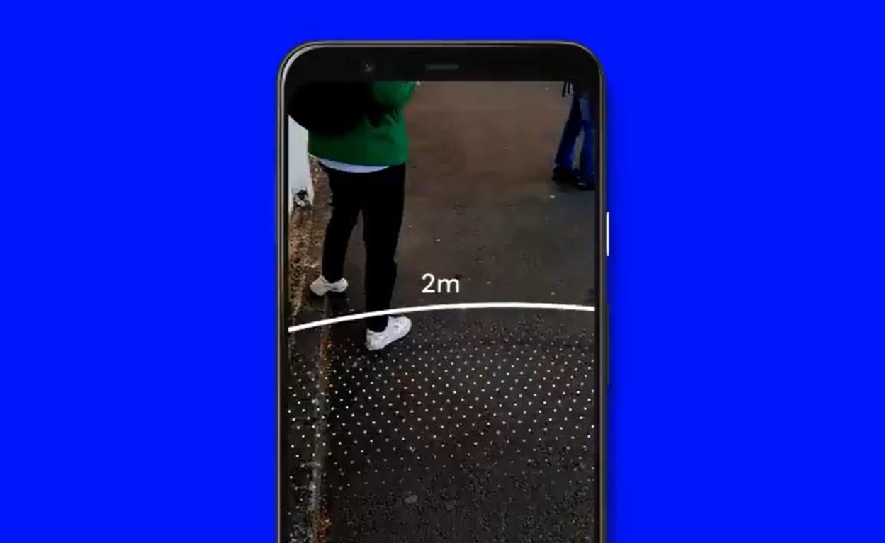 Novo app da Google cria linha virtual de distanciamento social