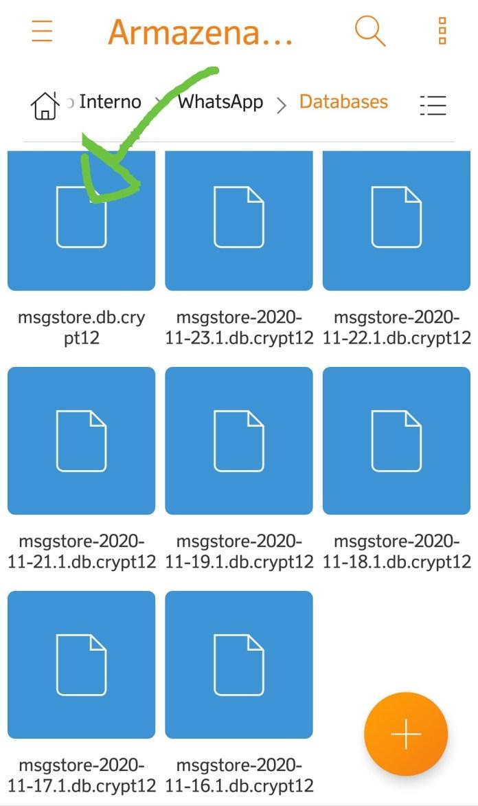 Recuperando mensagens via gerenciador de arquivos