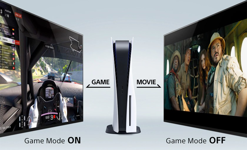 """TV automatically switches to picture mode """"Games"""" (Image: Sony/Reproduction)"""