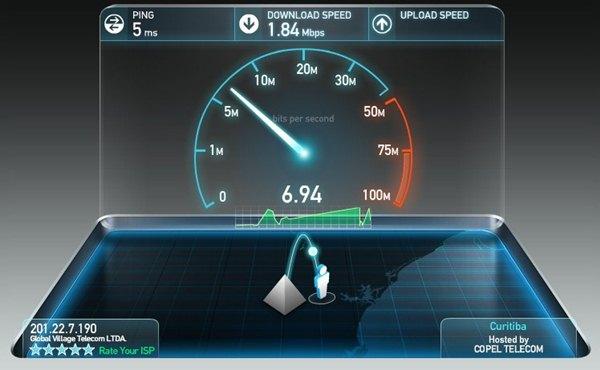 Sua internet está lenta? Faça um teste!