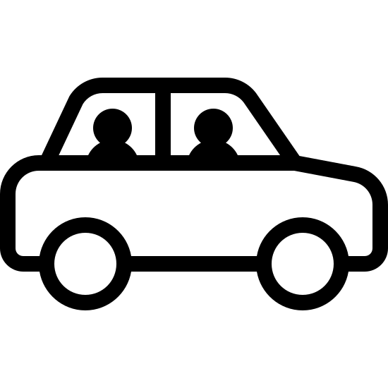 People In Car Side View Icon