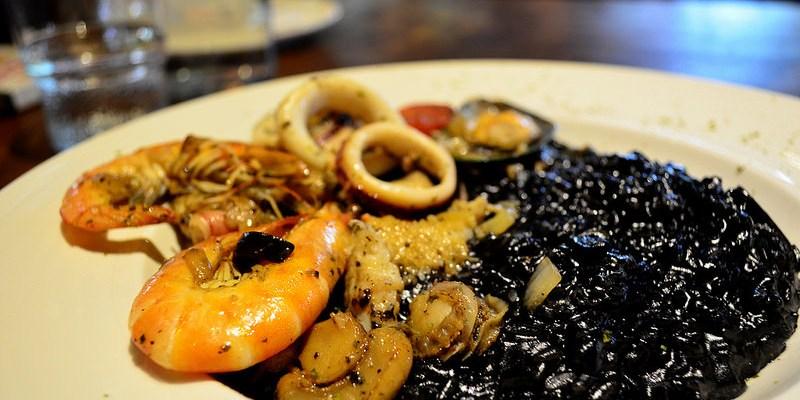 『台中北屯區_Le NINI樂尼尼義式餐廳』烏賊墨汁海鮮燉飯、藍鑽鮮蝦明太子義大利麵,令人垂涎三尺!