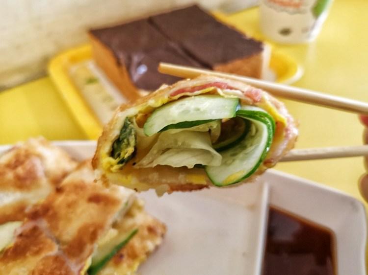 美佳香蛋餅|田中早餐,田中美食,酥脆、份量又多的蛋餅!