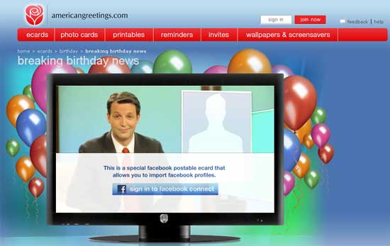 American greetings launches facebook video app m4hsunfo