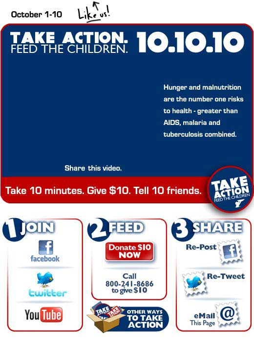 Feed The Children Launches Facebook And Twitter Campaign