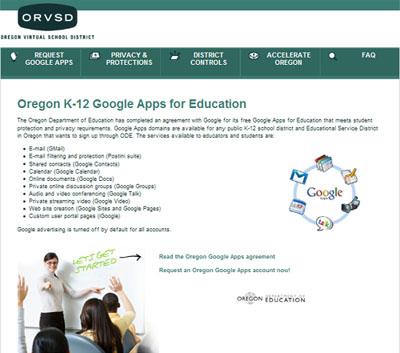 Oregon Goes Google (Apps)