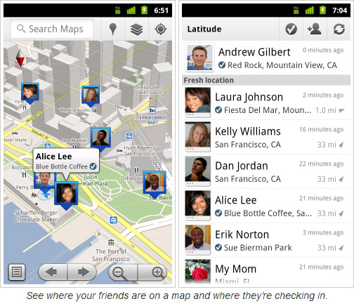 Google Latitude Adds Check-in Options