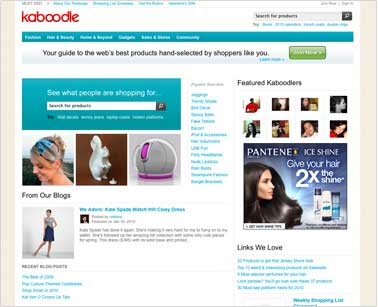 Kaboodle Adds Real-Time Product Search