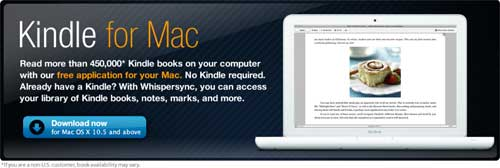 Amazon Releases Kindle For Mac App