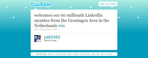 LinkedIn Greets 60 Millionth Member
