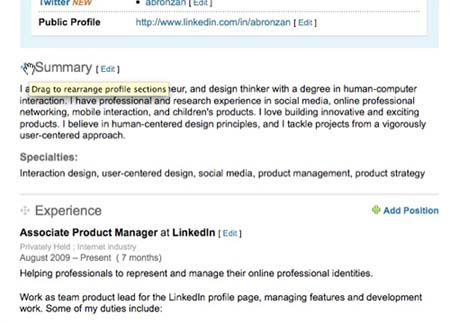LinkedIn Allows Users To Edit Profile Layouts