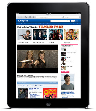 MySpace Lines Up Special Content For iPad Users