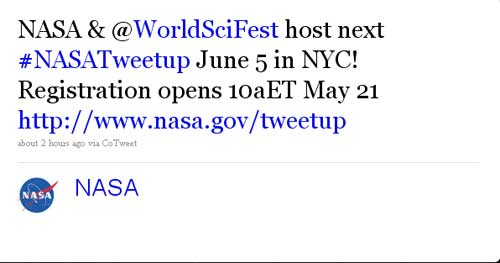 NASA To Hold Tweetup At The World Science Festival