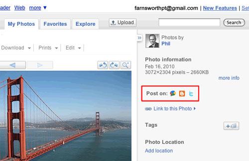 Google Improves Picasa Sharing Options