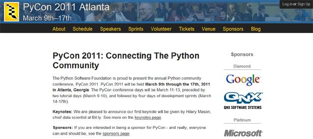 Google Gives PyCon 2011 Special Nod