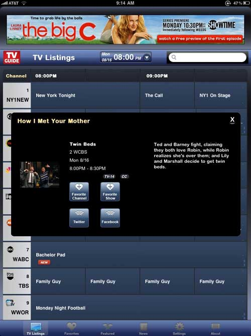 TV Guide Launches iPad App