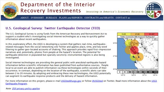 Gov't Agency Turns To Twitter For Earthquake-Tracking