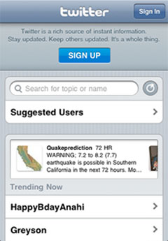 Twitter for iPhone App Made Available