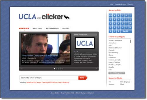 Clicker Partners With UCLA On Online Video Site