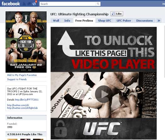 UFC-Facebook