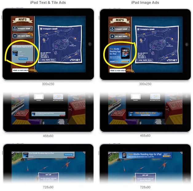 iPad formats from AdMob