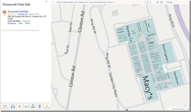 Bing Mall Maps