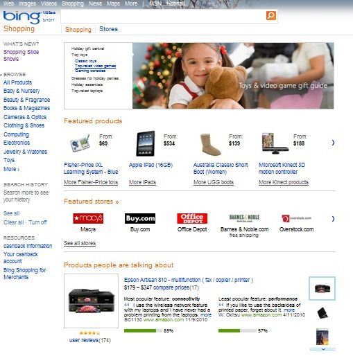 Bing Shopping Gets Improved Product Category Navigation