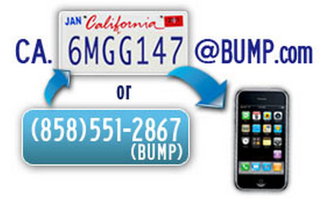 Bump brings social to the license plate