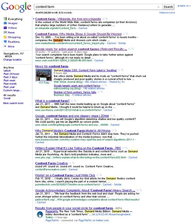 Did Google's Algorithm Update Go Far Enough on Content Farms?