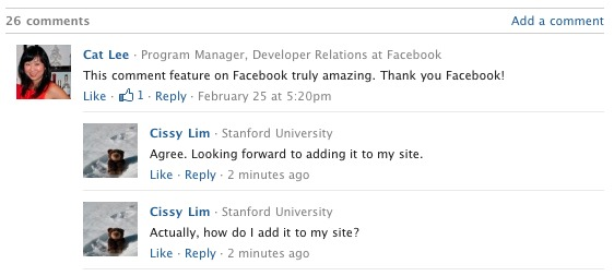 Facebook Comments Plugin Gets an Upgrade