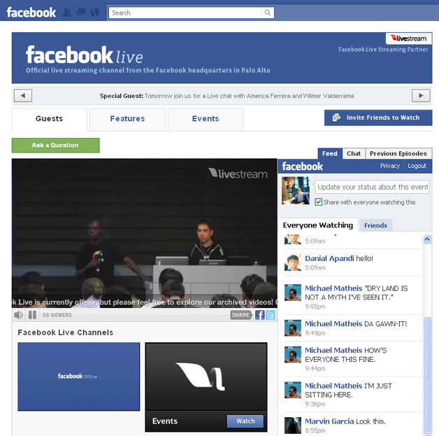Facebook Live - New Video Channel