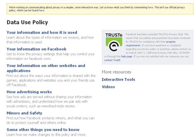Facebook Privacy Policy Gets A Makeover